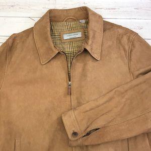 Joseph Abboud Suede Leather jacket size XL